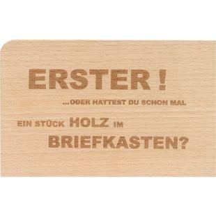 "Holzpost Postkarte Set 4-tlg. 14x9 cm - 4 x ""Erster"" - Bild 1"