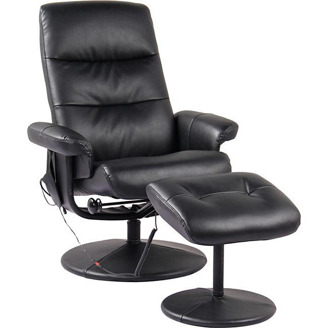 Alpha Techno Schwingungsfrequenz-Relax-Massagesessel Alpha 2126, schwarz - Bild 1