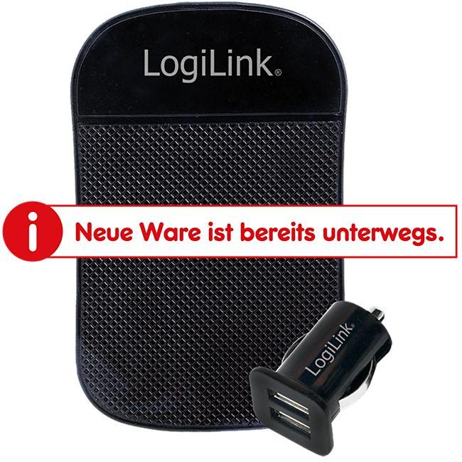 LogiLink KFZ Ladeadapter 2xUSB + Antirutschmatte - Bild 1
