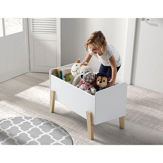 Vipack Spielkiste Kiddy mit 3 Fächern - Weiß - Bild 1