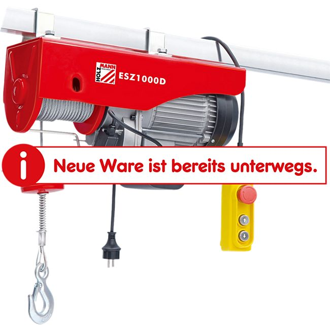 Holzmann ESZ1000D elektrischer Seilzug - Bild 1
