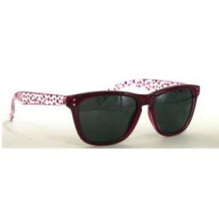 67ebc5e55404 Visiosan Sonnenbrille für Kinder, Bügel transparent mitrosa und lila  Pünktchen, Gläser dunkel