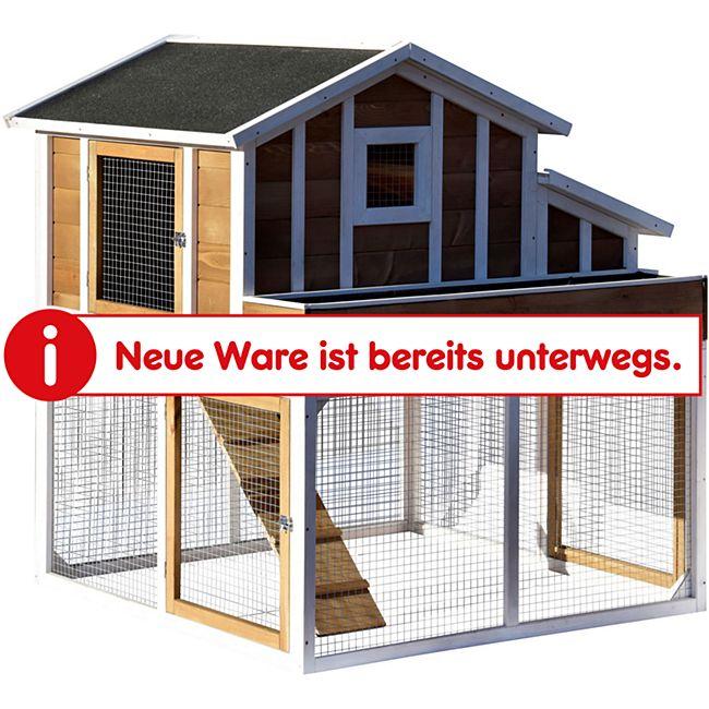 Dobar Hühner- und Kleintierstall mit Außengehege, Blumenkasten und Legebox - Bild 1