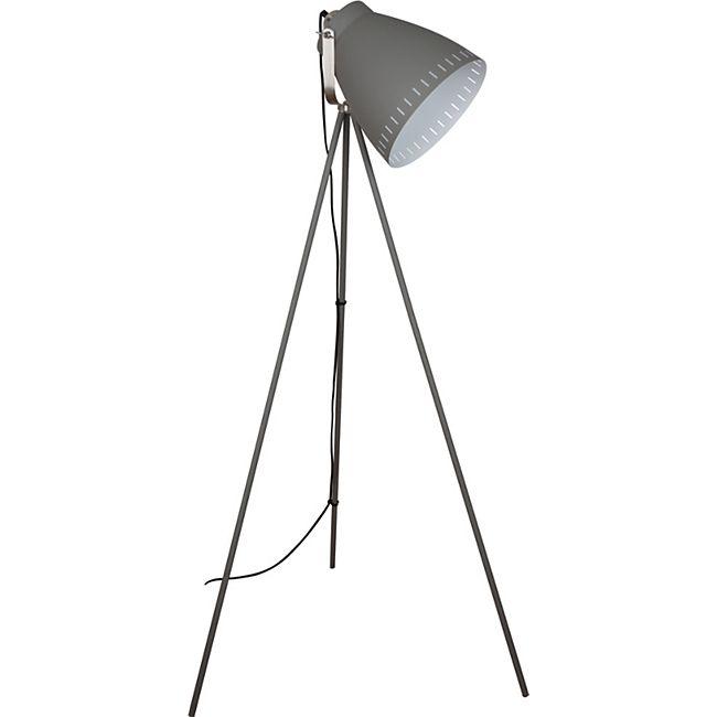Nino Leuchten Stehleuchte Makky, Nickel matt/Grau - Bild 1
