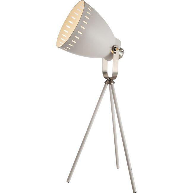 Nino Leuchten Tischleuchte Makky, Nickel matt/Weiß - Bild 1