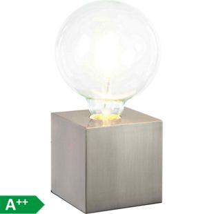 Nino Leuchten Tischleuchte Leonie, Nickel matt - Bild 1
