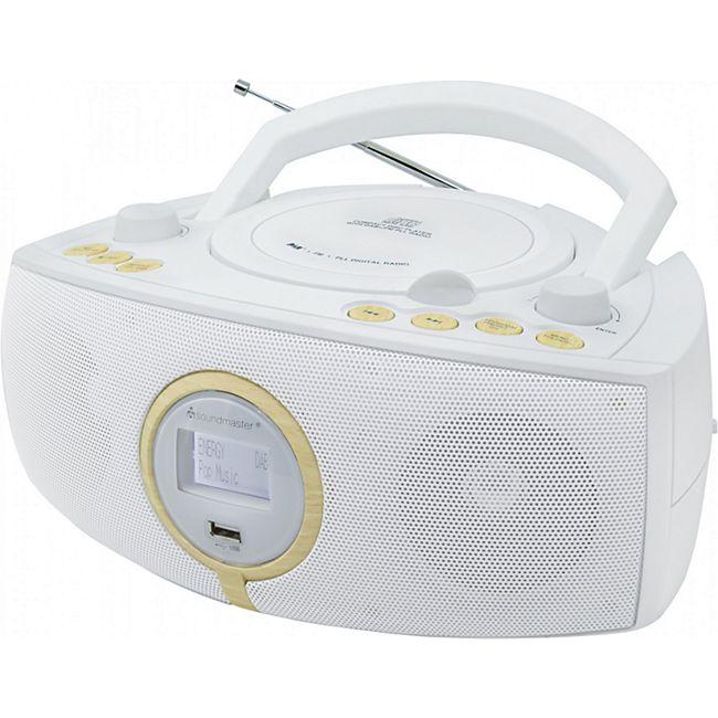 Soundmaster SCD1500WE Stereo DAB+/UKW-PLL Radio mit CD/MP3 Spieler - weiß - Bild 1