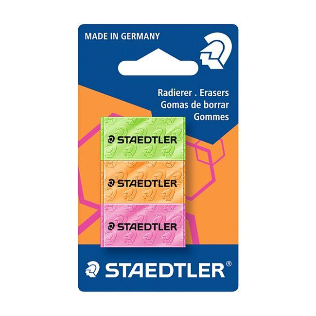 Staedtler Schulmaterialien - Radierer 3St. Neon - Bild 1