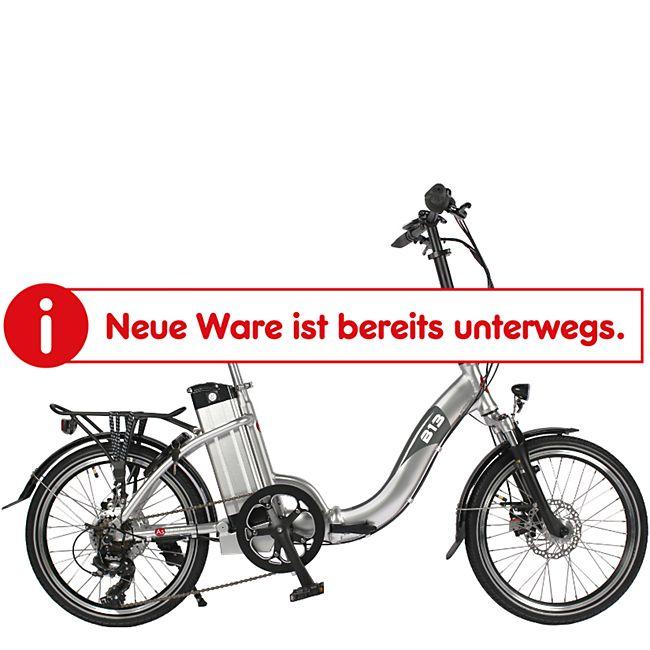 """AsVIVA E-Bike 20"""" Faltrad B13 36V Elektro-Klapprad Elektrofahrrad Pedelec silber - Bild 1"""