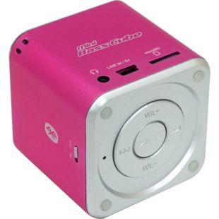 JayTech Mini Bass Cube SA 101 BT - pink - Bild 1