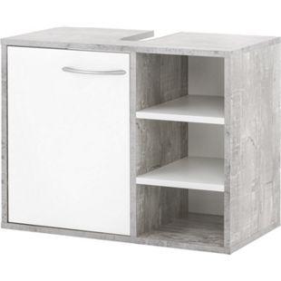 Wilmes Waschbeckenunterschrank in Beton / Weiß - Bild 1