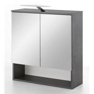 Wilmes Spiegelschrank Pure mit LED Beleuchtung in Graphit - Bild 1