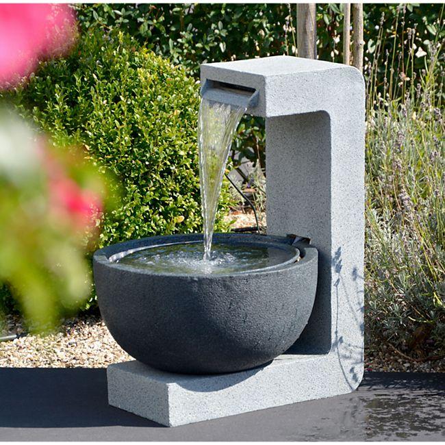 Dobar 96120e Design-Gartenbrunnen mit runder Schale - Bild 1