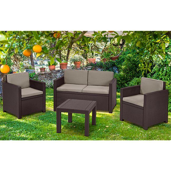 allibert lounge set victoria braun online kaufen netto. Black Bedroom Furniture Sets. Home Design Ideas