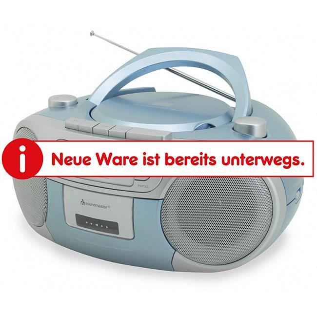Soundmaster SCD5410BL Radio-Kassettenspieler mit CD - blau - Bild 1
