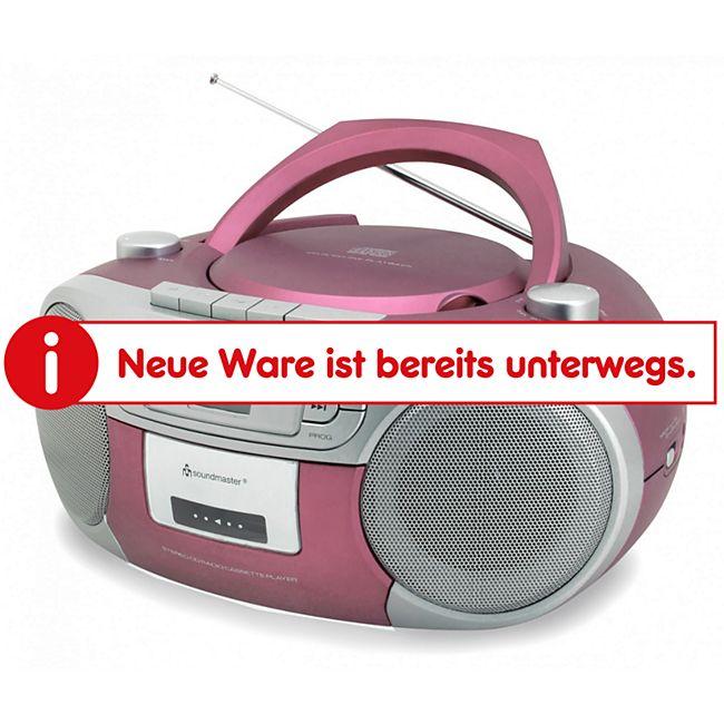 Soundmaster SCD5410PI Radio-Kassettenspieler mit CD - pink - Bild 1