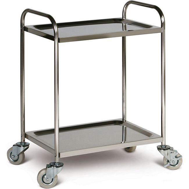 Taurotrade Edelstahl-Tischwagen, 2 Ladeflächen - Bild 1