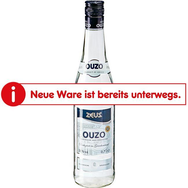 Zeus Ouzo 38,0 % vol 0,7 Liter - Bild 1