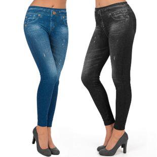 SLIMmaxx Jeans-Leggings 2er-Set schwarz/blau Gr. Gr.46/48 - Bild 1
