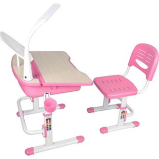 Vipack Comfortline Kinderschreibtisch 301 inkl. Stuhl, rosa höhenverstellbar - Bild 1