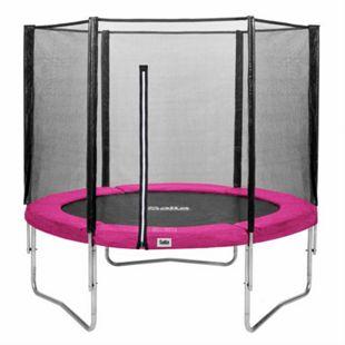 Salta Trampoline - Combo Set - Ø183cm - Trampoline mit Sicherheitsnetz - Schutzrand Farbe: pink - Bild 1