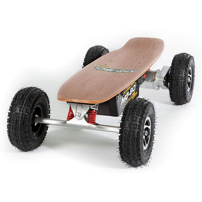 """MO-BO"" Elektro-Skateboard ""Classic Wood"" 800 Watt ALL-TERRAIN, Channel Trucks, 36V, Blei-Gel 14Ah - Bild 1"