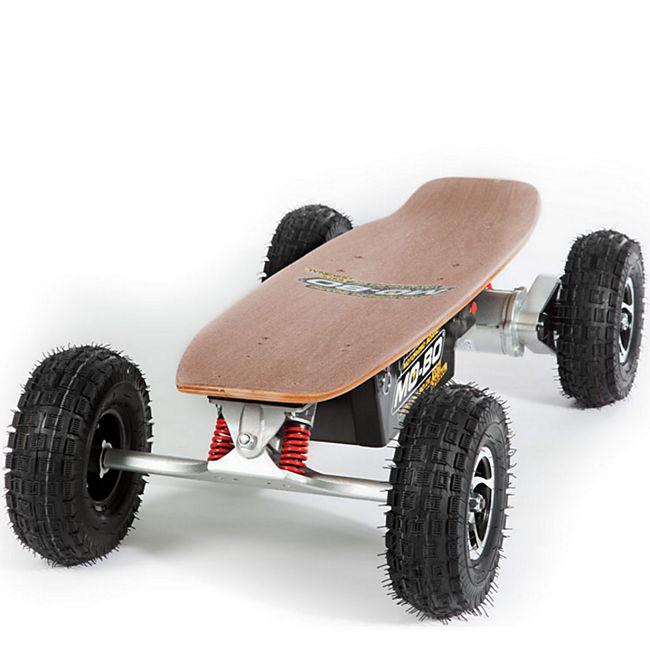 """MO-BO"" Elektro-Skateboard ""Classic Wood"" 800 Watt ALL-TERRAIN, Channel Trucks, 36V, Lithium 22 Ah - Bild 1"