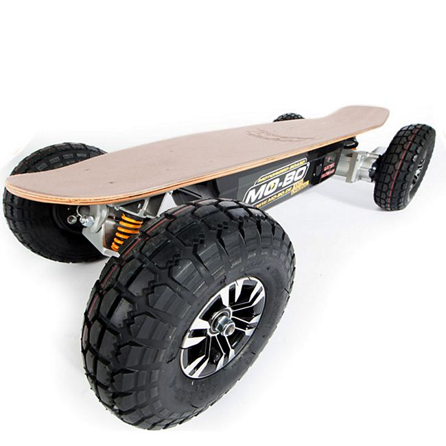 """MO-BO"" Elektro-Skateboard ""Classic Wood"" 1.300 Watt ALL-TERRAIN, Channel Trucks, 36V, Beli-Gel 14Ah - Bild 1"