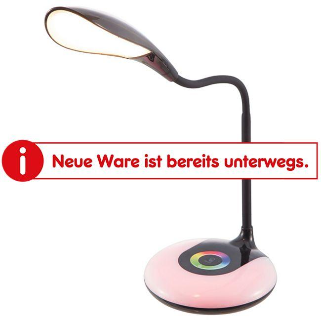 Nino Leuchten LED Tischleuchte COLORI mit RGB-Farbwechsler - Schwarz - Bild 1