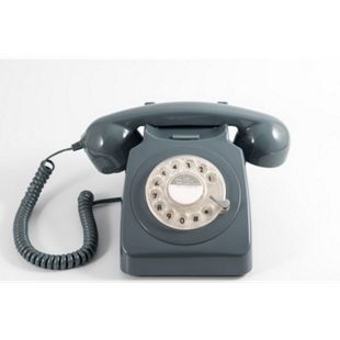 GPO Telefon mit Drehscheibe im klassischen 70er Jahre Design - grau - Bild 1
