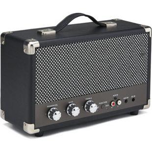 GPO nostalgischer Bluetooth Lautsprecher - schwarz - Bild 1