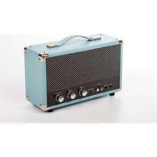 GPO nostalgischer Bluetooth Lautsprecher - blau - Bild 1