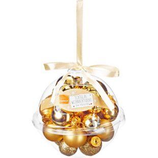 Dekor Mini Weihnachtskugeln aus Glas,  Kugeln inkagold - Bild 1