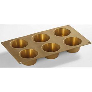 Kitchen Club Muffinform Silikon-Gold - Bild 1