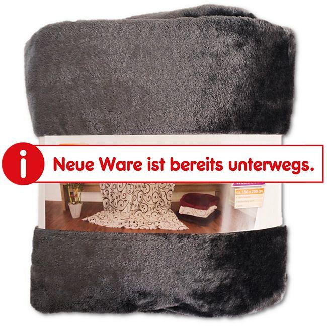 Dekor Kuscheldecke Grau Online Kaufen Bei Netto