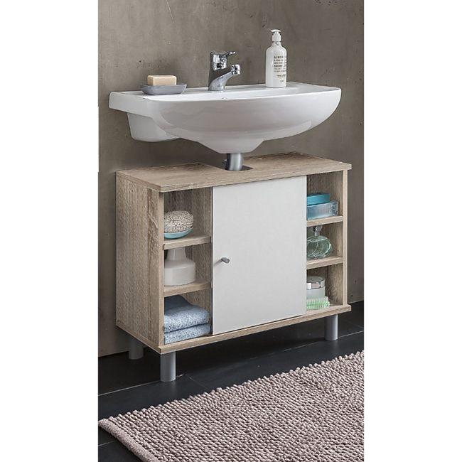 Waschbecken Unterschrank 1-trg. mit 6 Fächern - Bild 1