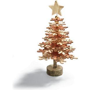 Baum Holz Glitzer - Bild 1