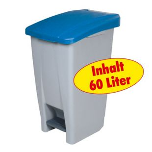 BRB Tret-Abfalleimer 60 Liter, blau - Bild 1