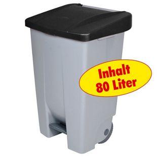 BRB Tret-Abfalleimer 80 Liter, schwarz - Bild 1