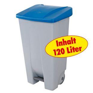 BRB Tret-Abfalleimer 120 Liter, blau - Bild 1