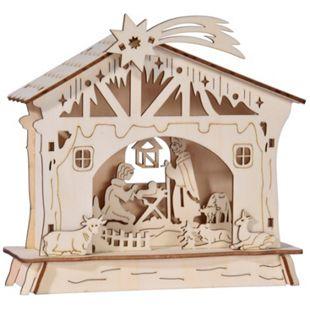 Holzkrippe mit Spieluhr Stille Nacht - Bild 1