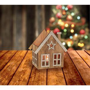 Weihnachtliche Teelichthalter silber glitzer - Bild 1
