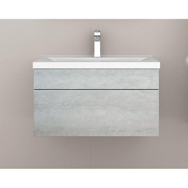 Home Deluxe Wangerooge Badmöbel-Set grau, ca. 61 cm breit ohne Spiegel (Gr. S) - Bild 1