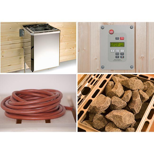 weka Saunaofen-Set BioS 4,5 KW mit Ofenanschlußkabel - Bild 1