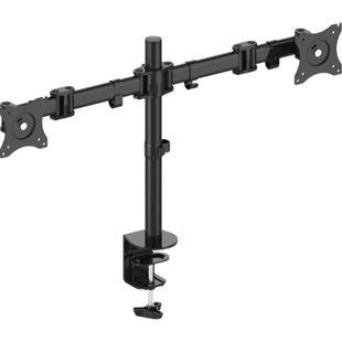 PureMounts PM-OFFICE-02 - Neigbare, drehbare und schwenkbare TV / Monitor Schreibtischhalterung für 2 Displays - Bild 1