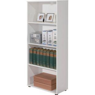 Inter Link Bücherregal Arco 3 mit 4 Fächern in weiss - Bild 1