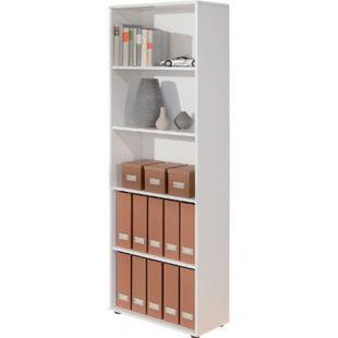 Inter Link Bücherregal Arco 4 mit 5 Fächern in weiss - Bild 1