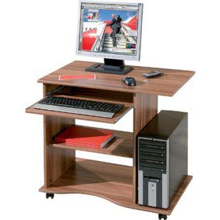 Inter Link Schreibtisch >Adda< mit Tastaturauszug in walnussfarben - Bild 1