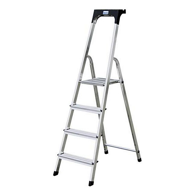 Krause Safety Alu-Leiter, 4 Stufen - Bild 1