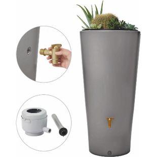 4Rain Vaso 2in1 Regenspeicher 220 Liter, zinkgrau - Bild 1